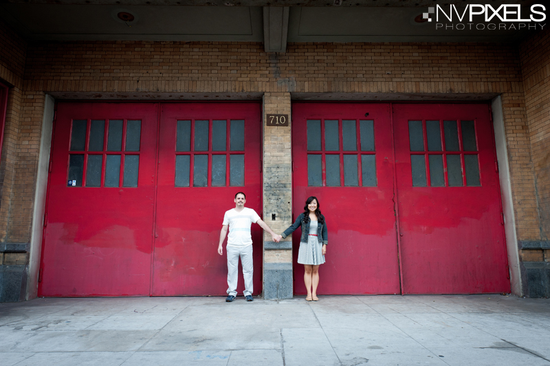 NVP 0187 PR Kyong and Joseph Engagement Session in Los Angeles and Pasadena, CA